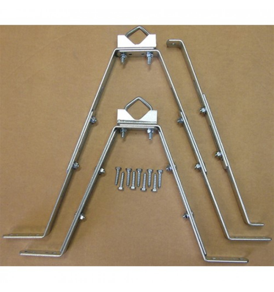 Wall bracket adjustable 25-50Cm x 2 pcs with support arm