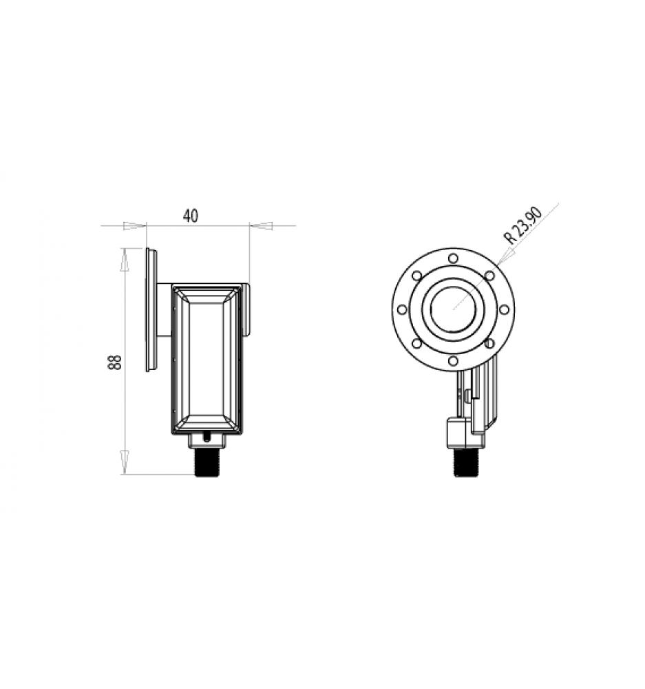Inverto Singel C120 Flange LNB
