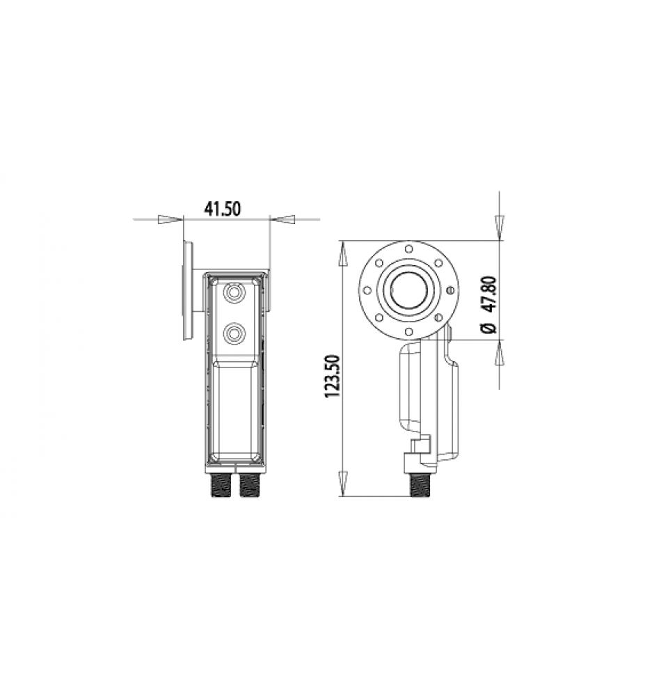 Inverto Twin C120 Flange LNB