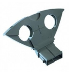 Side feed Triax Duoblock for 2 LNB - 6 degrees