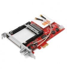 TBS6590 DVB-S2/T2/C2 Dual Tuner+CI PCIe Card